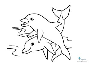 Dibujos para colorear de delfines