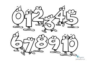 Dibujos números colorear