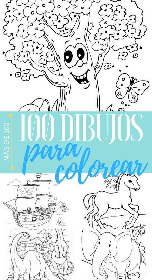 Dibujos infantiles fáciles para pintar y colorear