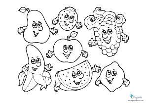 Dibujos de frutas para colorear