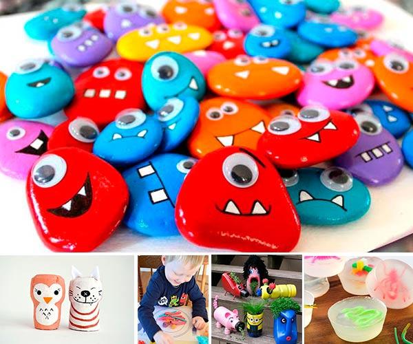 Más de 100 manualidades fáciles para niños! | Pequeocio