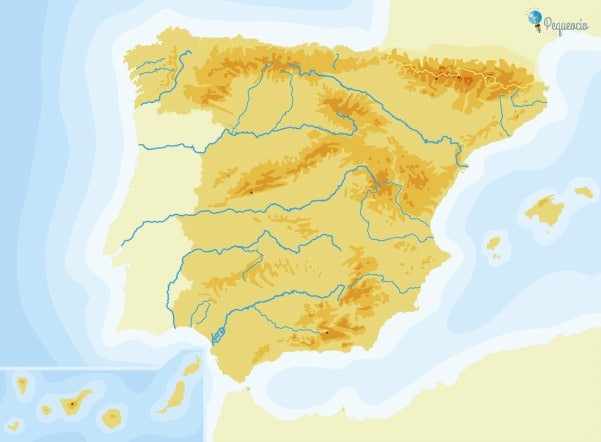 Mapa de los Ríos de España (listos para imprimir) 1