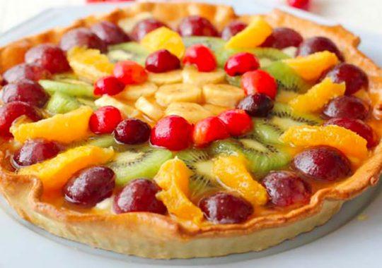tarta de frutas receta