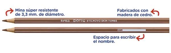 Todos los tonos de la piel con los lápices Giotto Stilnovo Skin Tones 3