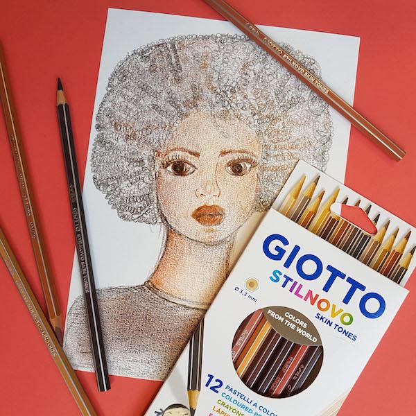 Todos los tonos de la piel con los lápices Giotto Stilnovo Skin Tones 5