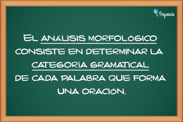 Qué es el análisis morfológico