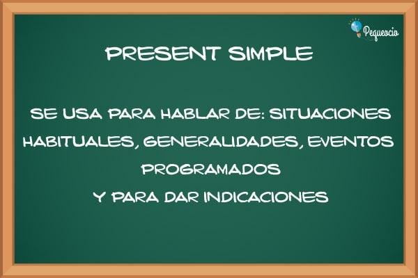 Presente simple inglés