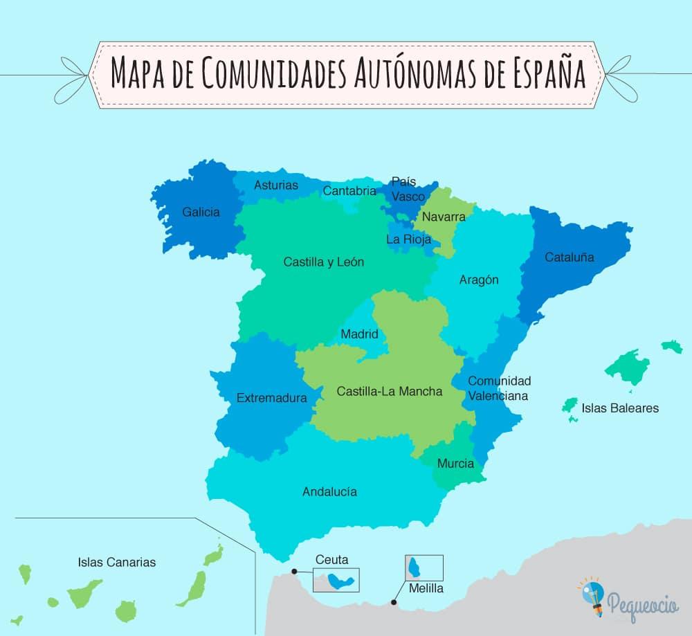 Mapas de comunidades autónomas