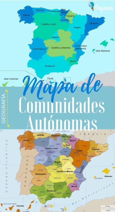 Mapa por comunidades de España