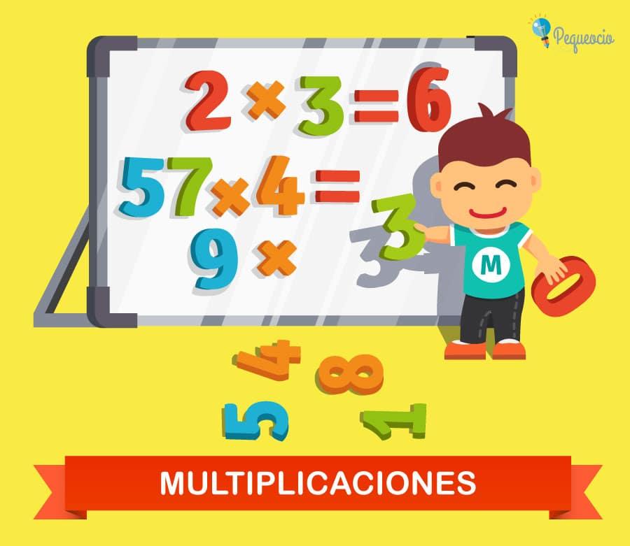 Multiplicaciones para primaria