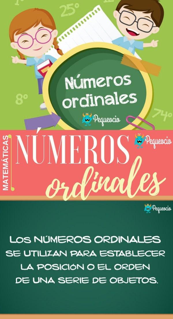 Cómo se escriben los números ordinales