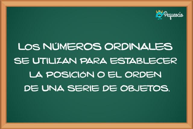 Números cardinales y ordinales