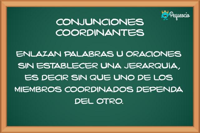 Conjunciones ejemplos