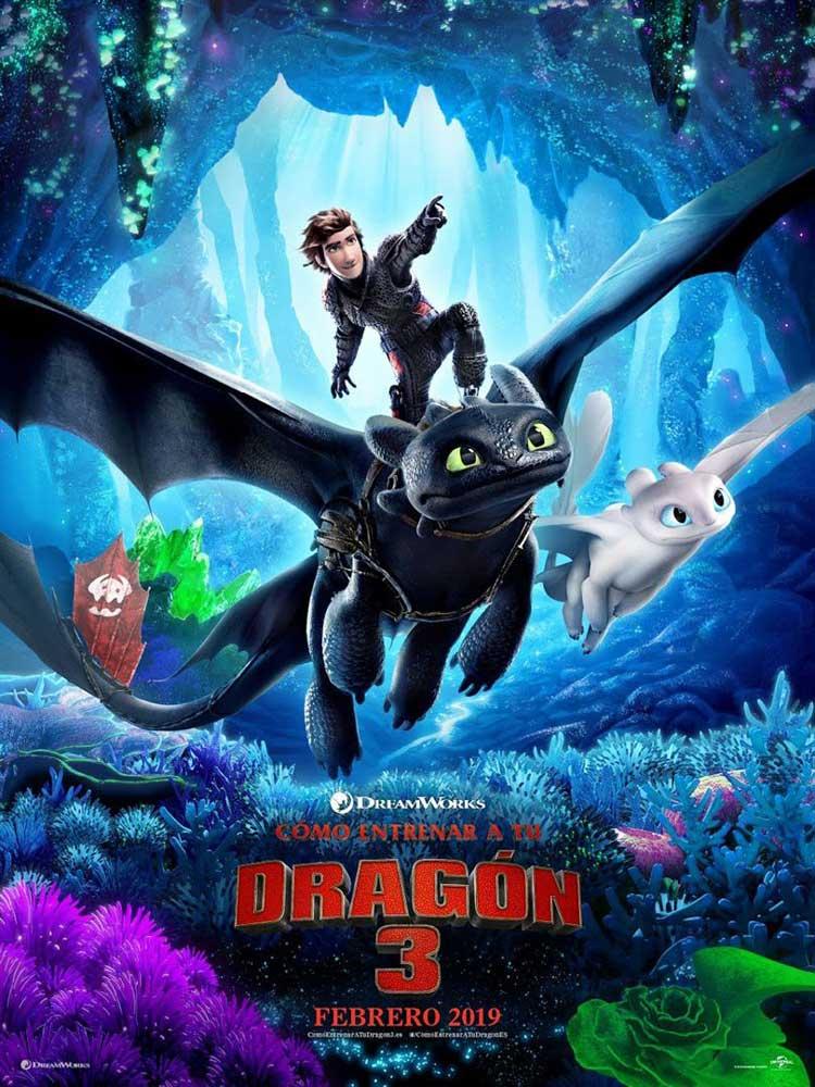 cómo entrenar a tu dragon cartel pelicula