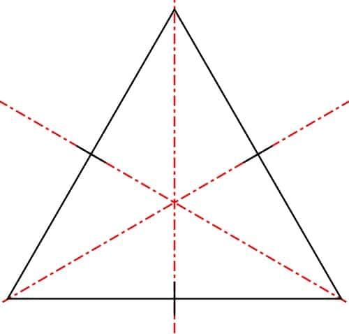 simetría triángulo equilátero