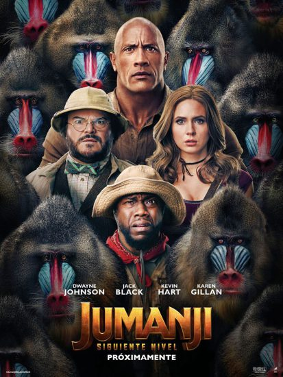 Jumanji siguiente nivel cartel pelicula