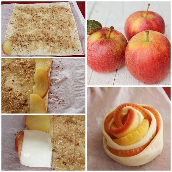 receta rosas de manzana con hojaldre