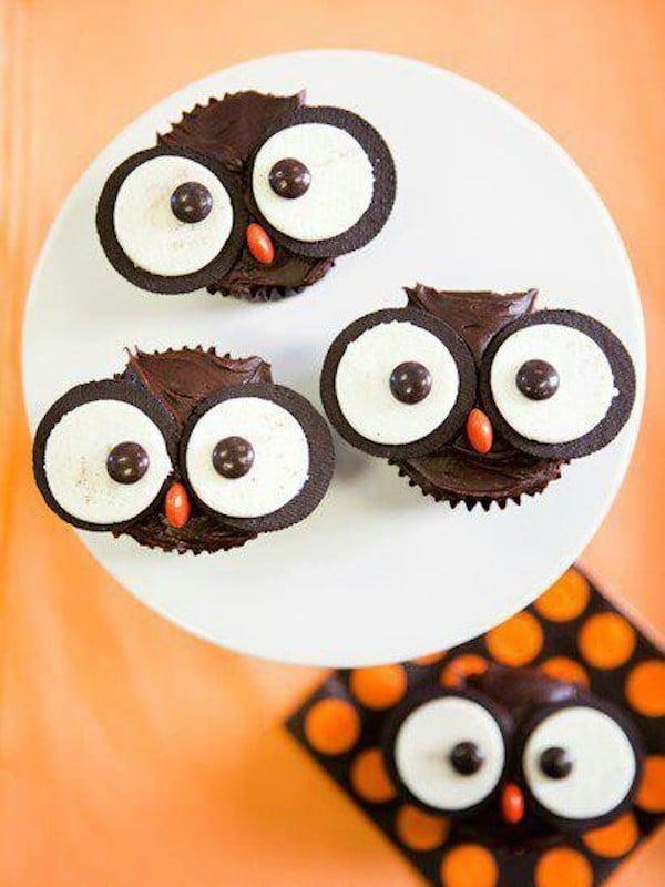 cupcakes buhos halloween