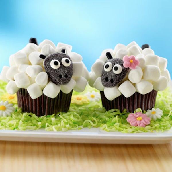cupcakes de ovejas