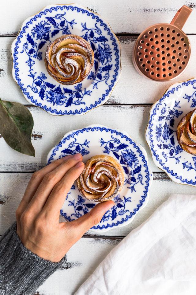 receta rosas de manzana y hojaldre