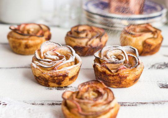 rosas manzana y hojaldre receta