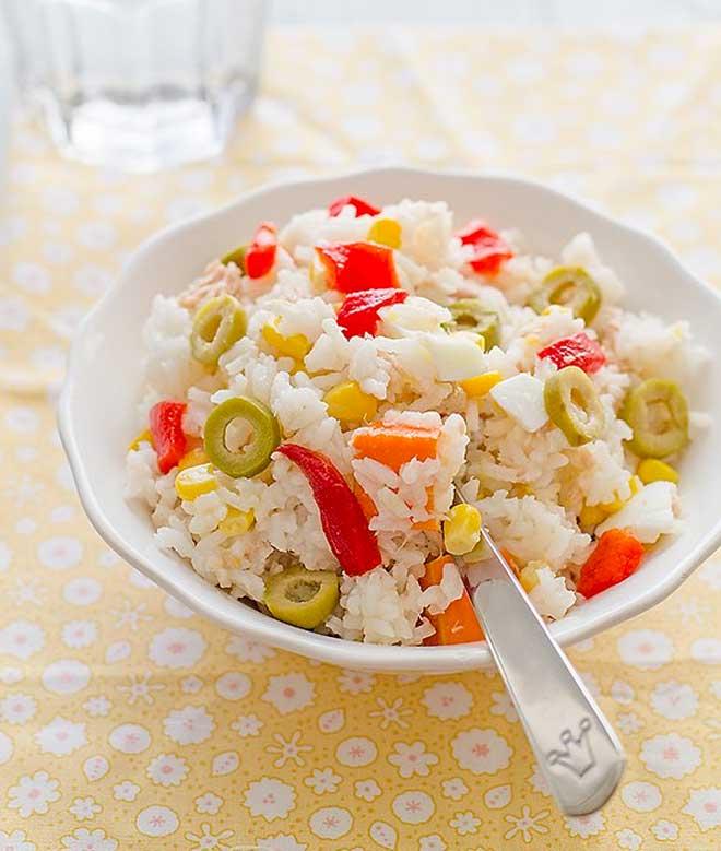 ensalada de arroz verano