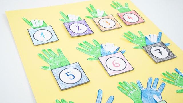 Cómo aprender los números con manualidades 1