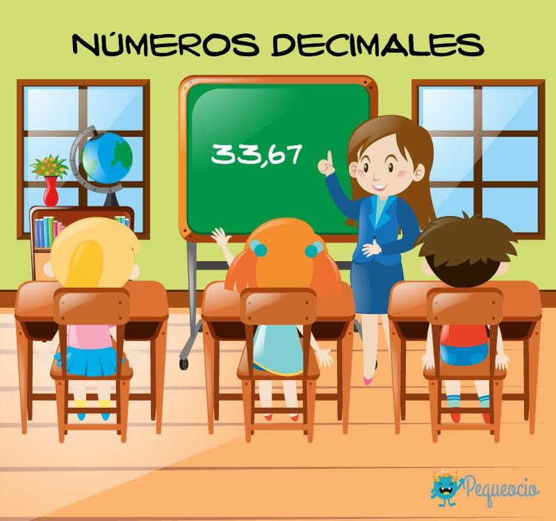números decimales para niños