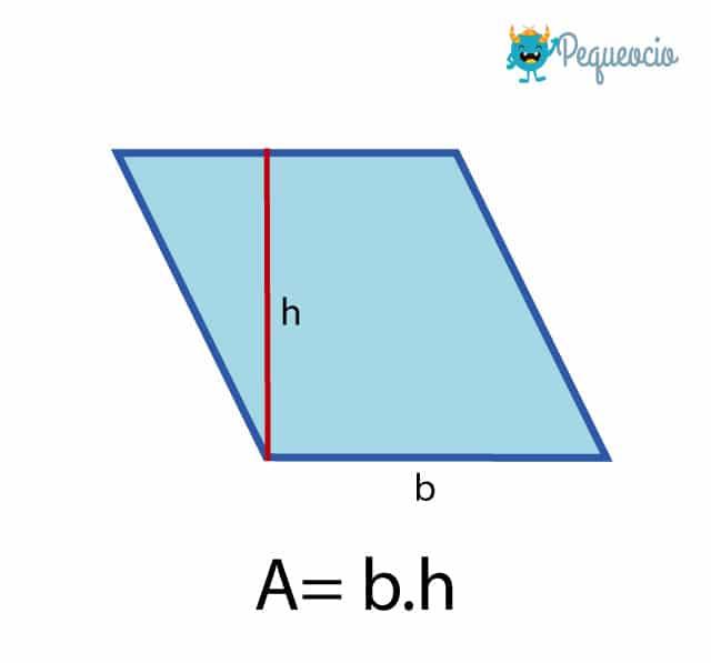 calcular área rombo