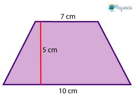 Cómo calcular el área del trapecio
