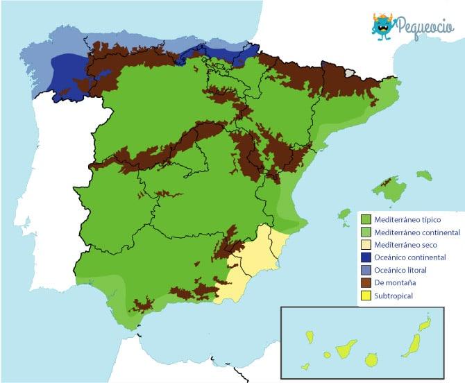 Cuáles son los climas de España