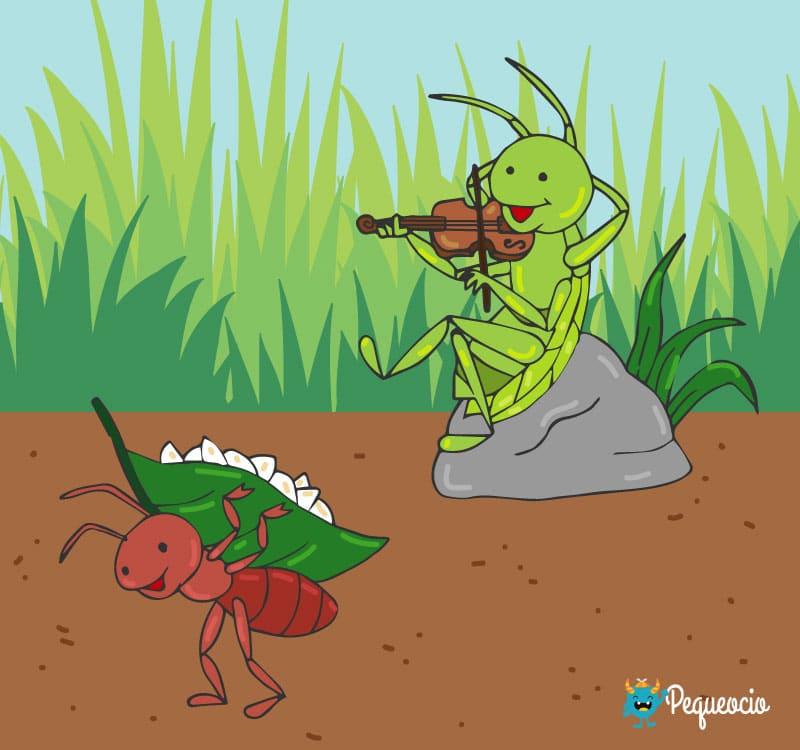 Fábula la cigarra y la hormiga