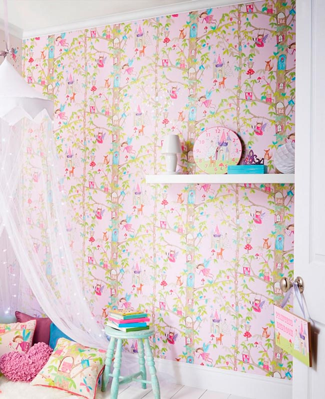 papel pintado para habitacion de niñas