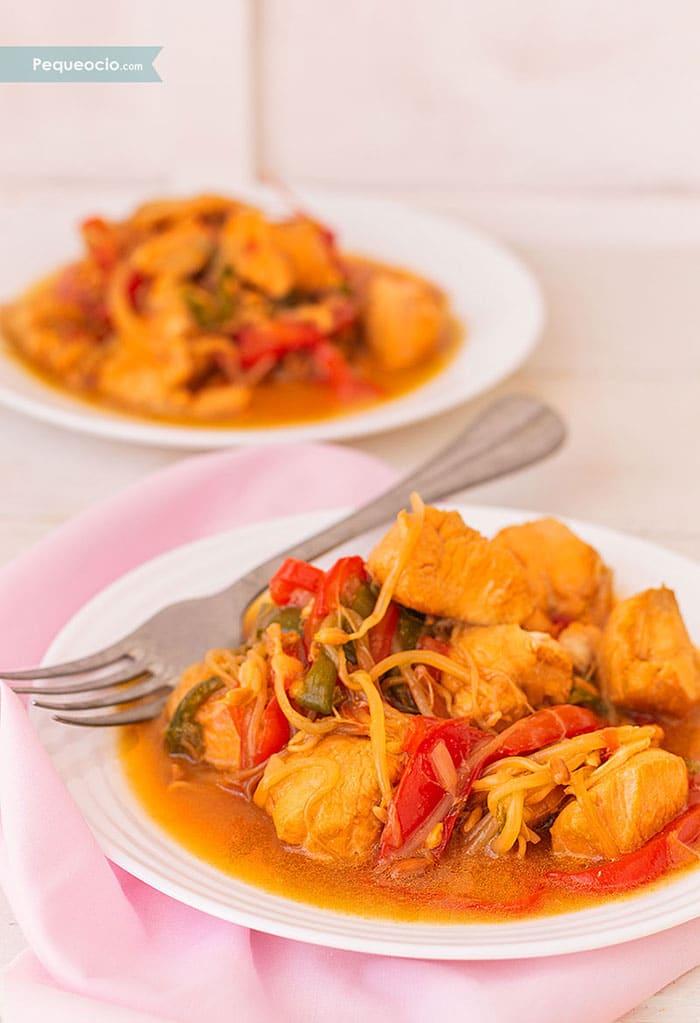 Chop Suey de pollo (receta china fácil) 2