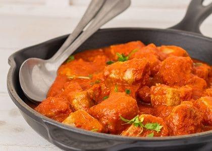 bonito con tomate casero