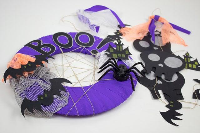 Corona y guirnalda para Halloween 1