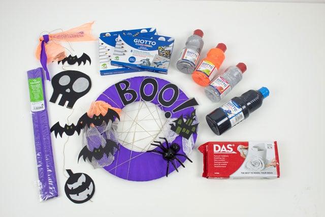 Corona y guirnalda para Halloween 13