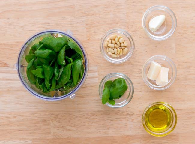 salsa pesto ingredientes
