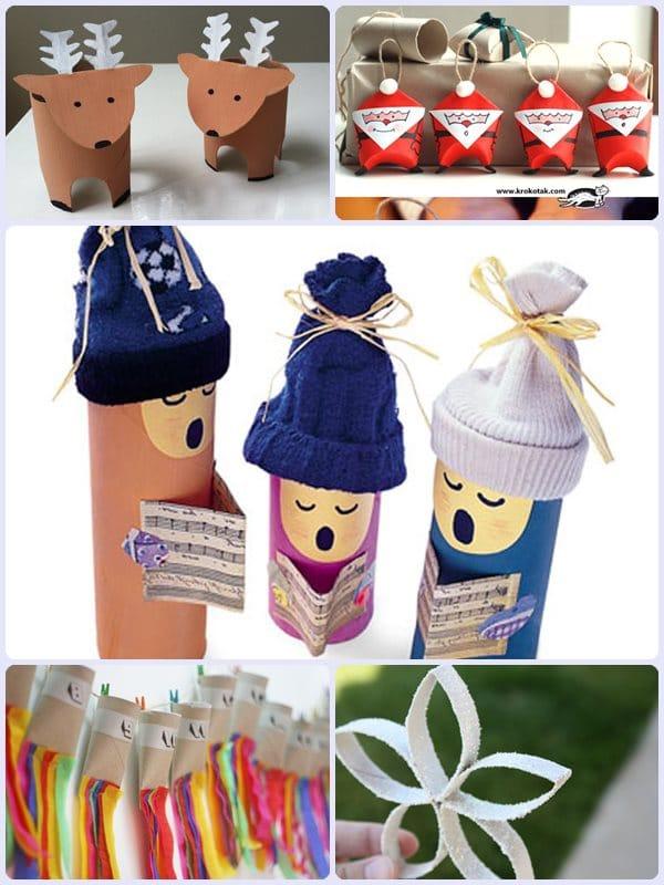 Adornos de navidad de papel higienico