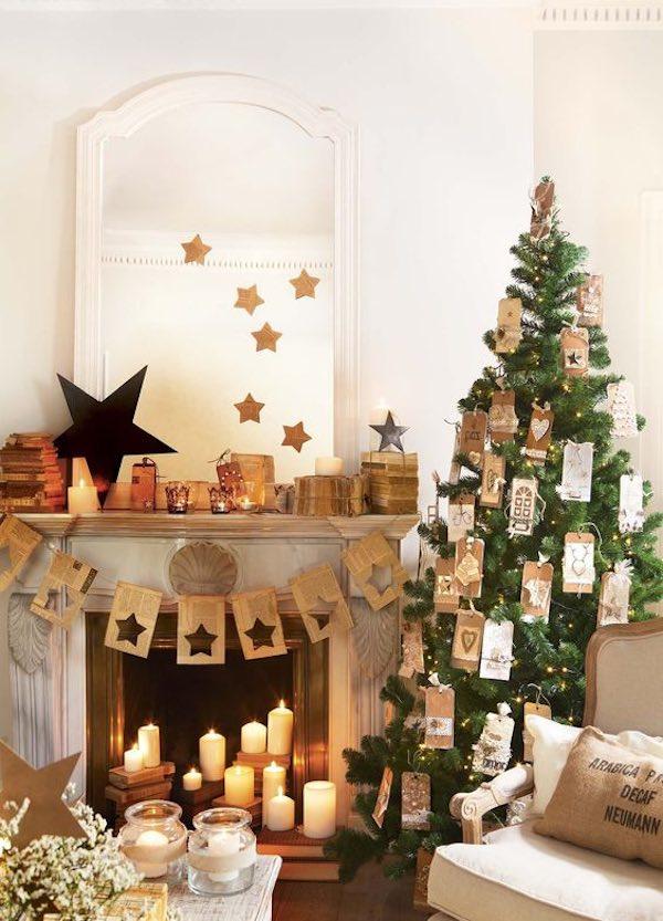 árboles de Navidad decorados caseros