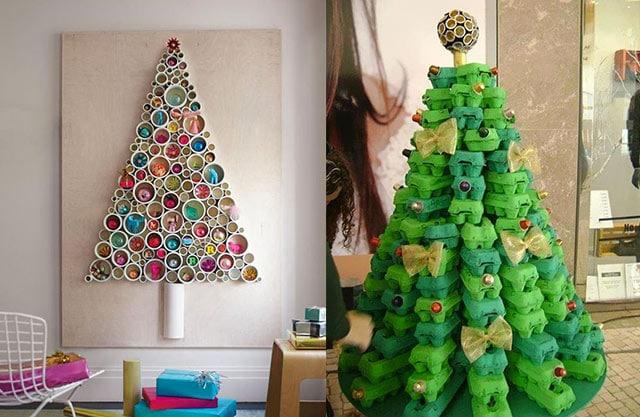 árboles navideños reciclados