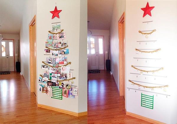 árboles de Navidad en la pared