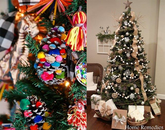 árboles de Navidad caseros