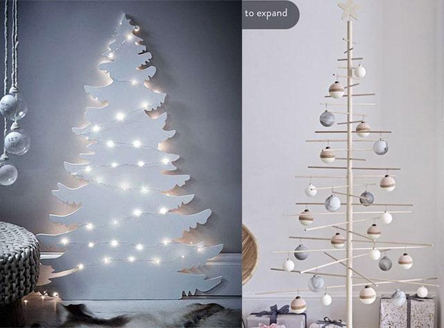 árboles modernos de Navidad
