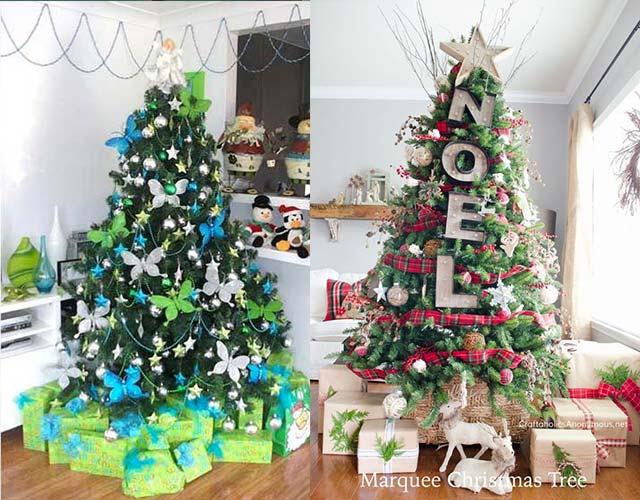 árboles de Navidad originales caseros
