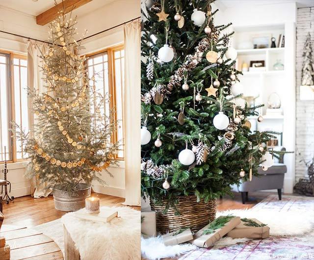 árboles navideños estilo nórdico