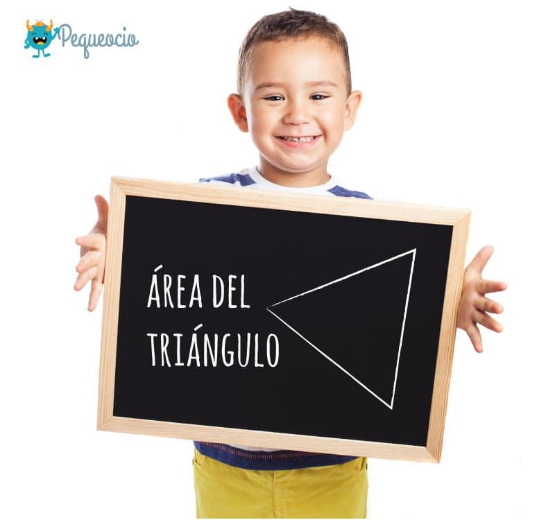 área del triángulo cómo se calcula