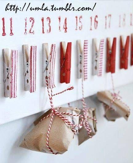 Calendario de Adviento casero