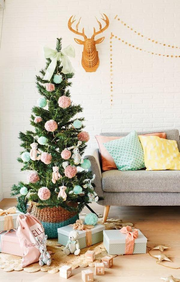 árboles navideños decorados fotos