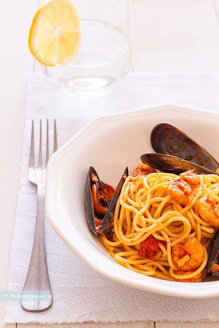 Espaguetis a la marinera 2
